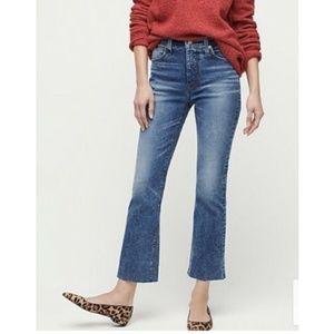 J. Crew Billie Demi Boot Crop Raw Hem Jeans